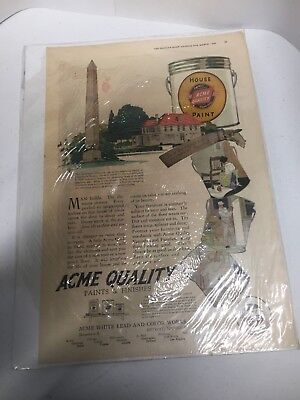 1920's Acme Paint Company Ad in great condition
