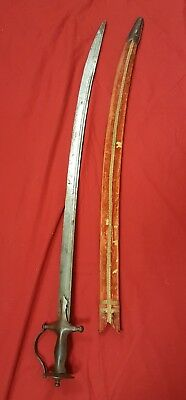 Antique 18th-19th Century Middle Eastern Tulwar Sword with Original Sheath