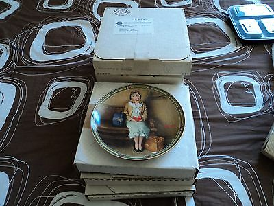 Norman Rockwell's American Dream Complete Eight Plate Series  Nib