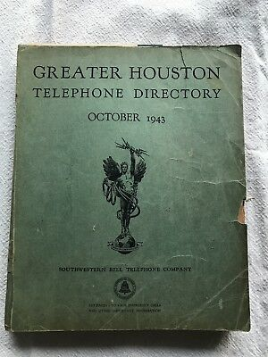 1943 Houston Texas telephone directory phone book SW Bell