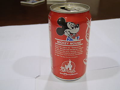 1986 12 oz. COCA-COLA 15 YEARS DISNEY WORLD MICKEY MOUSE OPENED