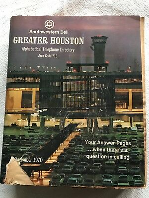 1970 Houston phone book white pages area code 713 alphabetic telephone directory