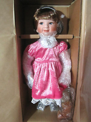 NEW Boyds Collection Stephanie Doll Certificate Birthday Party 12""