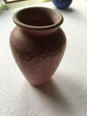 Rookwood Pottery Vase 1926 Matte Pink 2870 Vintage Arts And Craft Mission Style