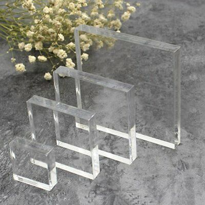 Multiple shapes Clear Acrylic Sheet Cut to Size Resin Panel 10mm Thickness YA