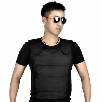 Stabproof Blk Anti Stab Vest Anti-knifed Security Defense Body Armour Men Vest