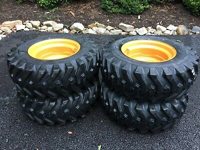 4 NEW 12-16.5 Camso sks332 Skid Steer Tires & Rims for Case 1845C & others