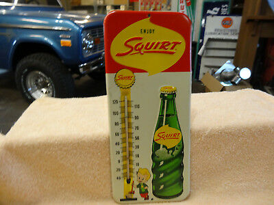 Old Squirt Soda Thermometer 1961