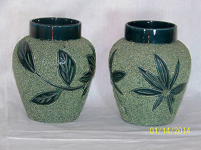 Pair *Thomas Forester & Sons* Antique Majolica Planters Vases