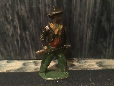 Vintage Lead Toy Miniature Wild West Cowboy With Rifle