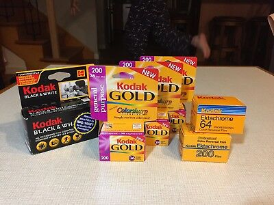Assorted Kodak Color/ Black White Print Film - Expired And Factory Sealed