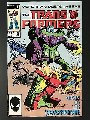 1985 Marvel THE TRANSFORMERS # 10, First Constructicons & Devastator, VF/NM!