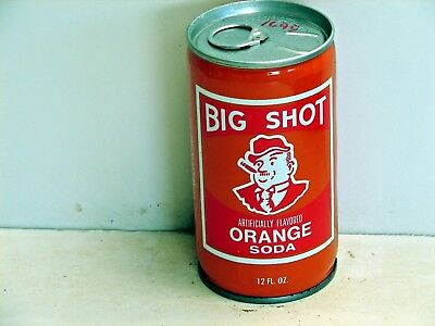 Big Shot Orange Soda; Jefferson Bottling Co.; Metairie, LA; steel soda pop can