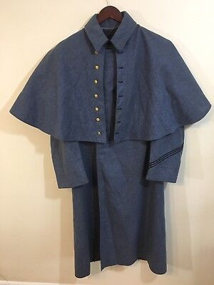 Vintage West Point Cadet Army Wool Trench Cape Coat Est 1933 Blue Numbered 1981?