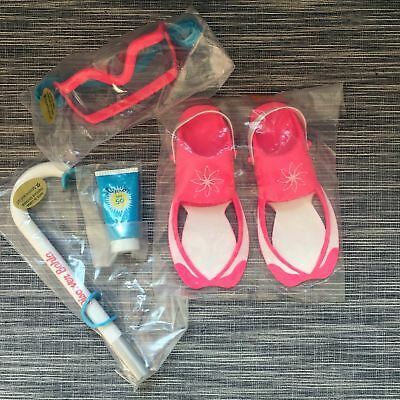 American Girl Beach Diving 4Pcs Accessories for 18-inch Dolls