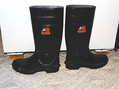 SFC PRO Steel Toe Size Mens 9 Womens 11 Pull On Rubber Boots 15 1/4 with heel
