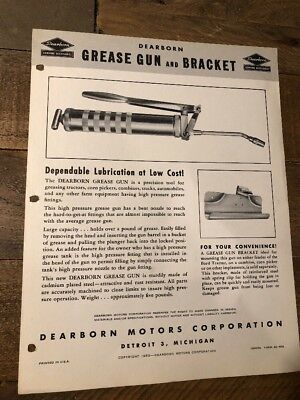 Ford Tractor Brochure/Dearborn Grease Gun