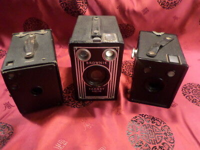 lot of 3 brownie box cameras