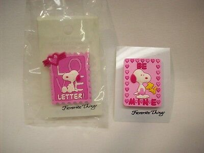 Snoopy Peanuts 2 pc Valentine PINS #V2, Favorite Things,  NEW