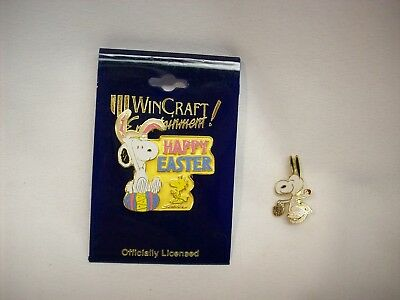 """Snoopy Peanuts 2 pc metal Easter PINS #E11, """"Bunny"""", Wincraft, (1 NEW)"""