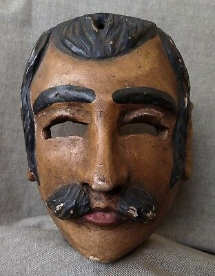 Vintage Mexican Dance Mask. Moor Mask. Mexican Folk Art.