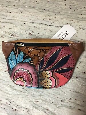 Anna by Anuschka Handpainted Leather Fanny Pack Belt Bag