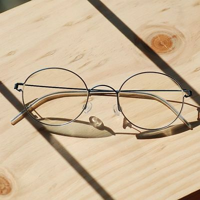 bfc0043ed8ee Titanium Round Steve Jobs Glasses mens HARRY POTTER blue RX optical  Eyeglasses