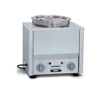 Bain Marie Hot 1/2 Size with 7.25L Round Pot Roband Soup & Sauce Warmer BM1E