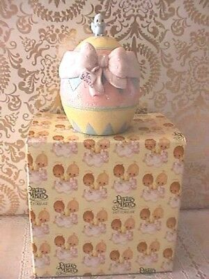 Precious Moments Easter Egg 104849 Hatched With Love Chick With Flowers
