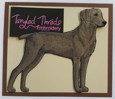 """Weimaraner Dog Embroidered Patch Approx Size 6""""x5.5"""""""
