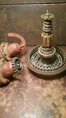 Lot Of Vintage Steampunk Art Lamp Parts Gears Springs Brass Cast Iron Repurpose