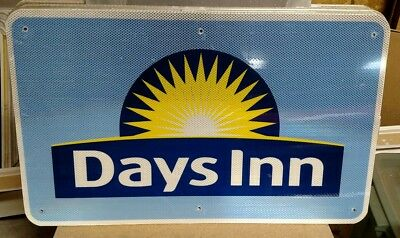 "DAYS INN Reflective Interstate Highway Sign 18"" X 30"" MAN CAVE POOL"