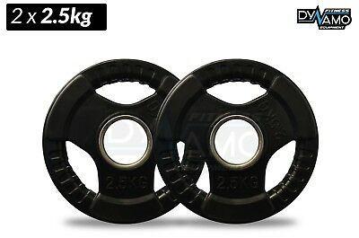 2.5kg PAIR Weight Plate Olympic Rubber Coated tri-grip for gym and fitness