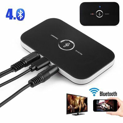 2in1 Bluetooth Wireless Audio Transmitter & Receiver 3.5mm Music Adapter PC TV