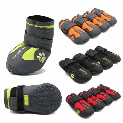 Pet Dog Shoes Puppy Cat Shoes Boots Waterproof Anti-Slip Paw Protector 4 PCS