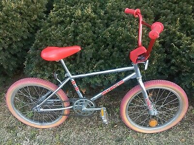 "Vintage 1983 Old School KENT 20"" BMX Chrome Frame RED COLORWAY 100% ALL ORIGINAL"
