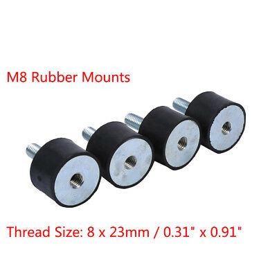 4x M8 Rubber Anti Vibration Single End Shock Absorber Vibration Isolator Mounts