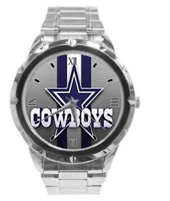 Dallas Cowboys Custom Casual Stainless Steel Band Wrist Watch