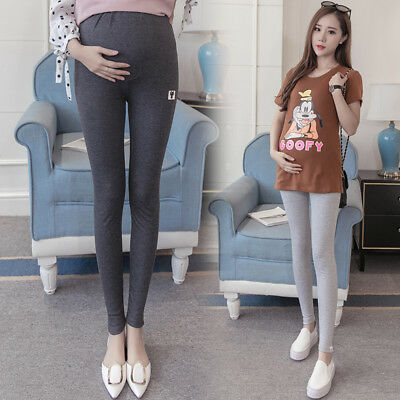 Adjustable Pregnant Women Abdominal Maternity Pants Belly Leggings Trousers AU