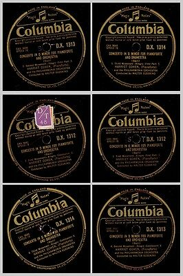 HARRIET COHEN -PIANO- & PHILHARM. ORCH. Bach: Concerto in D Minor   78rpm  GS719