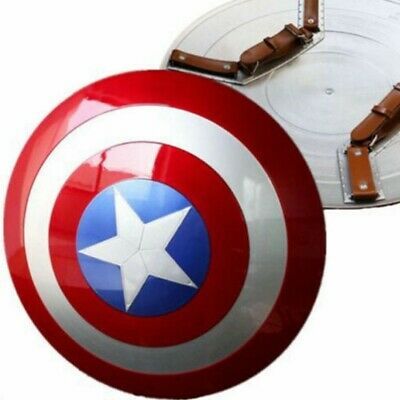 DHL! Captain America Shield 1:1 ABS Replica Metal Color Avengers Cosplay Prop