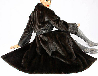 Nerzmantel Nerz Mantel Pelz Pelzmantel dark mink fur coat mantle Vison Visone