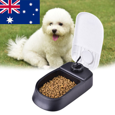 AU! Automatic Pet Dog Food Feeder Dry Meal Set Time Dispenser Bowl Dish Containe