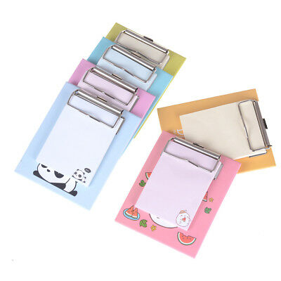 Creative Stationery Office Supplies School Notebook Sticky Notepad Clip Plate^