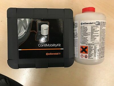 NEW Continental tyre puncture repair kit including pump and sealant