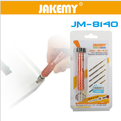 JAKEMY JM-8140 6in1 Aluminum Alloy Screwdriver Set for Samsung/iPhone/Sony Phone