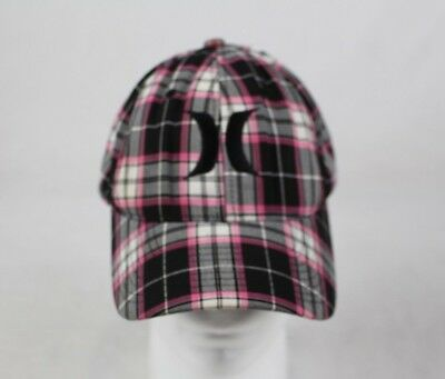 Hurley Unisex Pink White and Black Snap Back Cap Beach Summer Surfing Cap