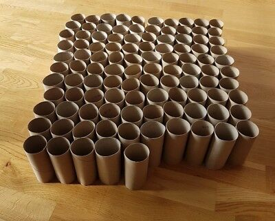 105 Empty Toilet Paper Rolls Cardboard Tubes For Kids Arts & Crafts Or Gardening