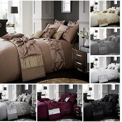 Luxury Duvet Cover Sets With Pillow Cases King Size Single Double Super Bedding