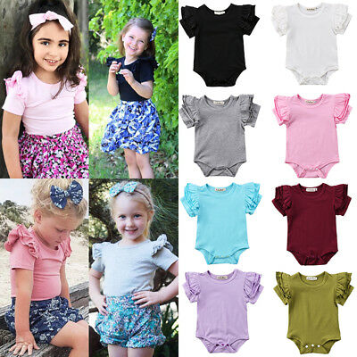 AU Stock Cute Newborn Toddler Baby Girl Romper Bodysuit Jumpsuit Outfits Clothes